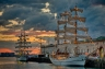 Tall Ships at Sunrise